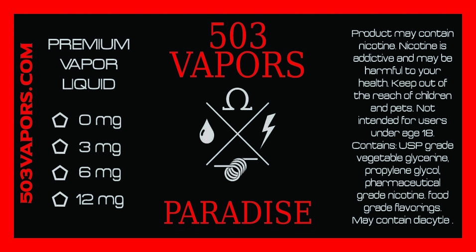 503 Vapors Logo & Label Design